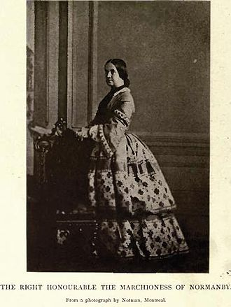 George Phipps, 2nd Marquess of Normanby - Laura the Marchioness of Normanby by William Notman