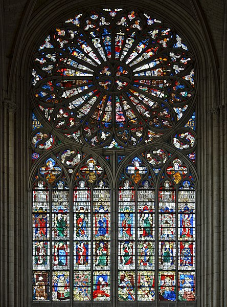 File:Le Mans - Cathedrale St Julien Rose.jpg