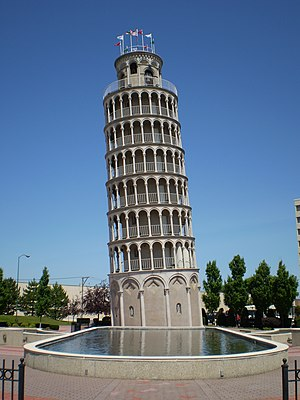 Niles, Illinois - Located on Touhy Avenue, the Leaning Tower is a one–half scale of the real one.