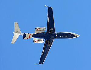 Planform showing a Flexjet airline Bombardier ...