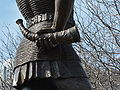 Leif Ericson statue in Milwaukee, rear view detail.JPG