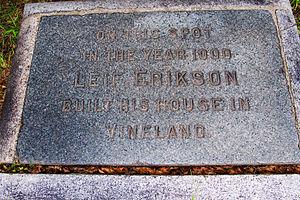 Eben Norton Horsford - Image: Leif Erikson Marker Cambridge MA
