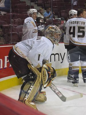 Michael Leighton - Leighton with Anaheim during the 2006-07 preseason.