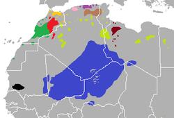 Répartition des Berbères en Afrique du Nord