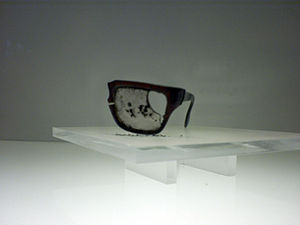 Death of Salvador Allende - Allende's glasses, found in the Palacio de La Moneda after his death