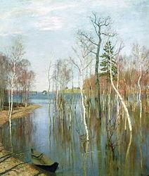 Isaac Levitan: Spring. High water