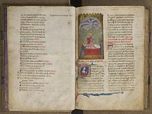 two pages from the manuscript of the leys damors 14th century