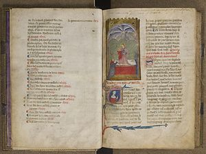 Letter (alphabet) - Two pages from the manuscript of the Leys d'Amors, 14th century
