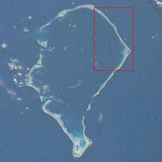Fongafale Island in Funafuti, Tuvalu