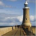 Lighthouse Tynemouth North Pier - geograph.org.uk - 1195560.jpg