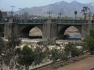Rímac District - Stone bridge (Puente de piedra) across the Rímac River