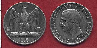 Italian Somaliland lira version of the Italian lira minted in Italian Somaliland between 1925 and 1926