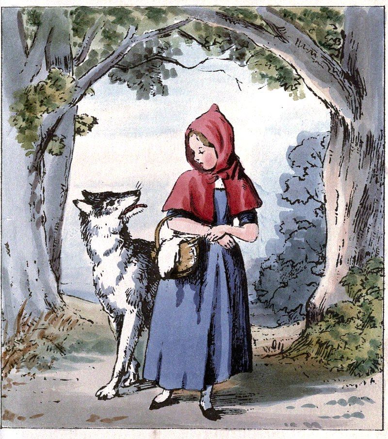 Little Red Riding Hood Meeting the Wolf.jpg