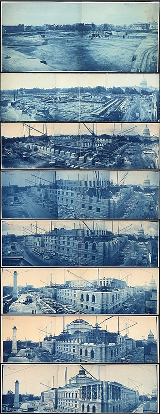 Library of Congress - Construction of the Thomas Jefferson Building, from July 8, 1888, to May 15, 1894.