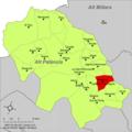 Localització d'Almedíxer respecte de l'Alt Palància.png