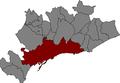 Localització de Tarragona al Tarragonès.png