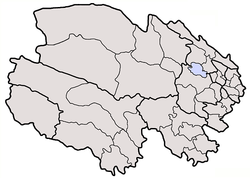 Golmud is located in Qinghai