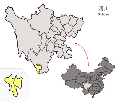 Location of Panzhihua Prefecture within Sichuan (China).png