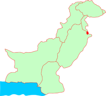 Location of Sialkot