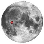 Location of lunar crater copernicus