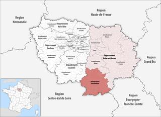 Arrondissement of Fontainebleau Arrondissement in Île-de-France, France