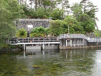 Loch Morar - The hydroelectric power station on the loch