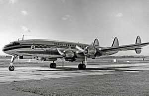 Lockheed L-1049 Super Constellation - A Trans-Canada Air Lines L-1049C at Heathrow in 1954