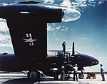 Lockheed P2V Neptune at Naval Air Station Patuxent River, circa in the early 1950s (NH 101816-KN).jpg