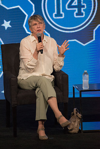 The Giver (film) - Jeff Bridges and author Lois Lowry at an event for the film in 2014