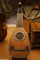Lombardic mandolin with 12 strings (6 courses)
