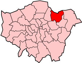 Carte de localisation du district dans le Grand Londres.