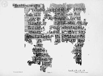 Egyptian medical papyri - Londonpapyrus EA 10059