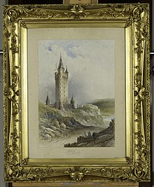 A framed picture showing the tower