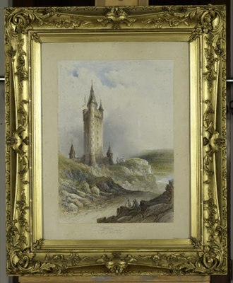 Scrabo Tower - Image: Londonderry Memorial Tower (project) Watercolour