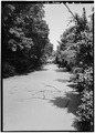 Looking North along canal at School St. - Blackstone Canal, Albion, Providence County, RI HAER RI,4-LINC,14-1.tif