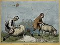Lord Brougham shears a mock sheep with the head of Lord Melb Wellcome V0050244.jpg