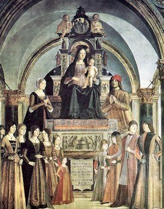 Giovanni II Bentivoglio - Bentivoglio family by Lorenzo Costa