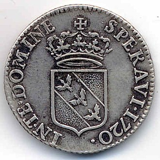 Leopold, Duke of Lorraine - The reverse of the coin, 1720