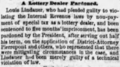 Louis Julius Lindauer (1838-1915) pardoned by the president in The Philadelphia Inquirer on 24 June 1870.png