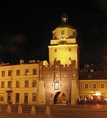 Lublin brama krakowska noc2.JPG