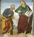 Luca signorelli, loreto, sagrestia della cura, coppia di apostoli 03.jpg