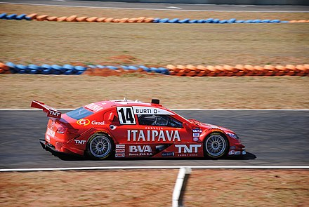 In 2009 and 2011, Peugeot won the Stock Car V8 championship with Caca Bueno (here Luciano Burti) Luciano Burti (5797860059).jpg