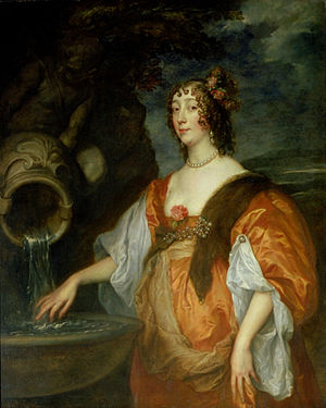 Lucy Hay, Countess of Carlisle - Portrait of Lucy, Countess of Carlisle, by van Dyck (about 1637)