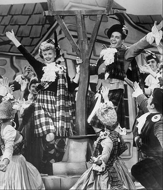 "Lucille Ball - A scene from the I Love Lucy episode ""Lucy Goes to Scotland"", 1956"
