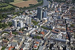 The downtown of Offenbach from above