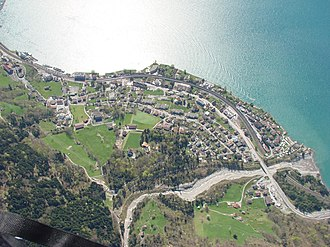 Flüelen - Aerial view of Flüelen
