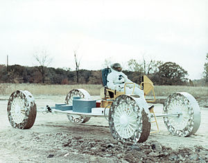 Marshall Space Flight Center - MSFC tested candidates for the Lunar Roving Vehicle on this test track.