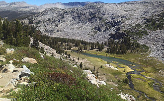Lyell Canyon - Looking down into Lyell Canyon from the John Muir trail