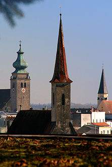 The three churches of Mühldorf