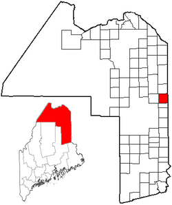 Location of Mars Hill, Maine